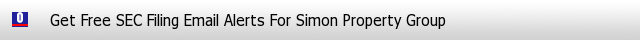 Simon Property Group SEC Filings Email Alerts image